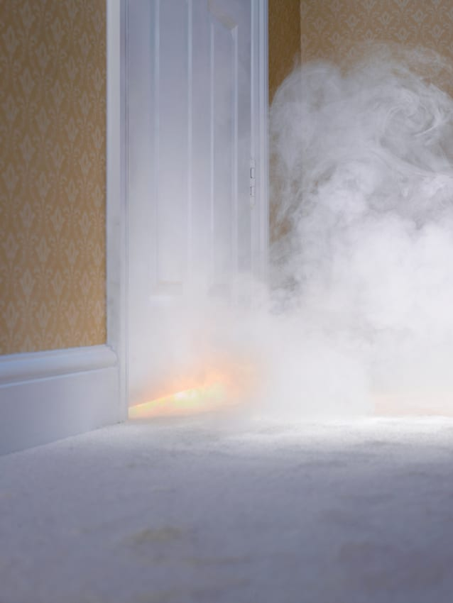 smoke-coming-in-under-door